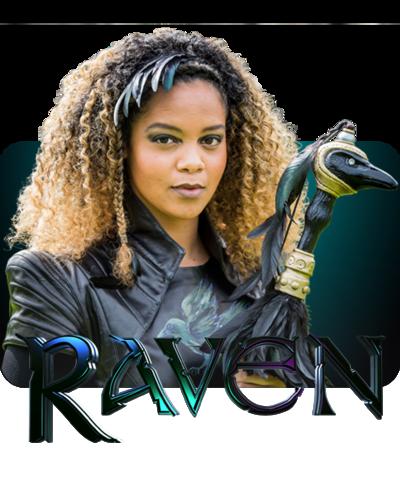 Raven presenter against the Raven logo.