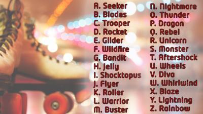 Roller Derby Name Generator.