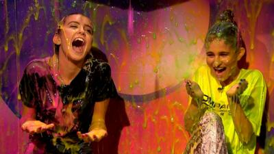 Saturday Mash-Up! - Vloggers Olivia Grace and Lovevie get slimed