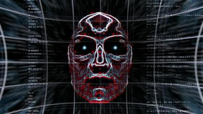 A face in a computer programme.