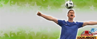 Football skills- balancing ball