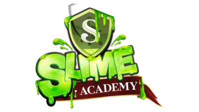 Slime logo and background
