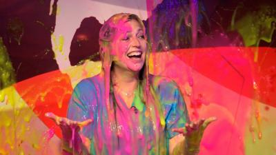 Saturday Mash-Up! - Cat from The Pets Factor gets super slimed!