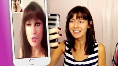 Technobabble - Laura swaps faces with Taylor Swift