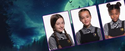 Mildred, Felicity and Enid from The Worst Witch.
