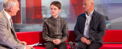Mike and Ryan being interviewed on BBC Breakfast.