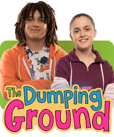 A boy and girl standing together smiling, Tyler and Jody from Series 8 of The Dumping Ground.