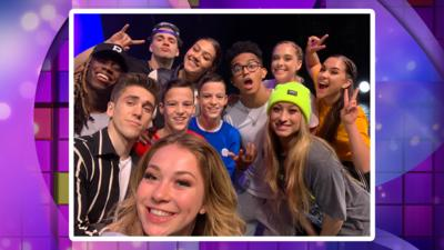 The Next Step cast selfie with Next Step Dance competition winner - Kyle.