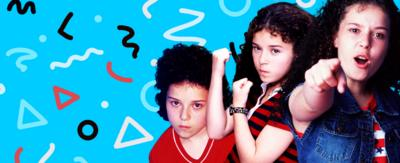 Tracy Beaker at different ages in different poses.