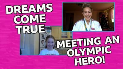 Saturday Mash-Up! - Mash-Up viewer meets her Olympic hero!