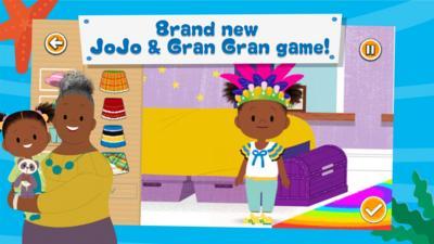 JoJo & Gran Gran in CBeebies Playtime Island.