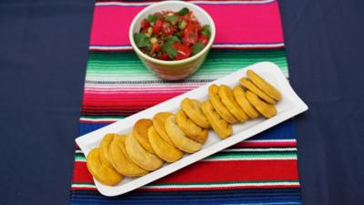 My World Kitchen - Mateo's Chilean Sopaipillas with Pebre