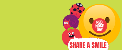 Click to send in a photo or video of your child spreading happiness, kindness and laughter for the share a smile campaign in partnership with Comic Relief.