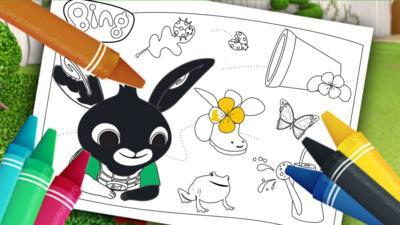 Bing - Spring Colouring Sheets