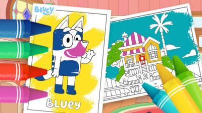 Bluey - Bluey Colouring Sheets