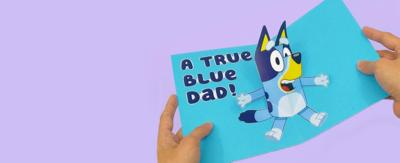 How to make a Bluey Father\u2019s Day Pop-Up Card