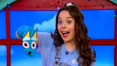 Bluey - Make a Bluey Sock Puppet