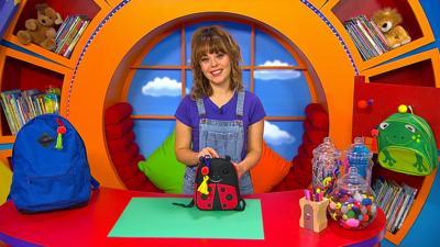 CBeebies House - Make a book bag charm with Evie