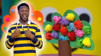 CBeebies House - Make a colourful blossom tree