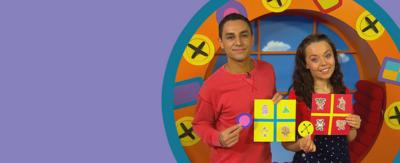 Ben and Evie from CBeebies showing how to make your own Bing and Duggee bingo cards and play along when you watch the shows.