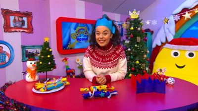 CBeebies House - Make a Christmas Hat and Cracker