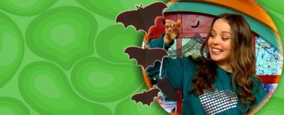 Make a flying bat for Halloween