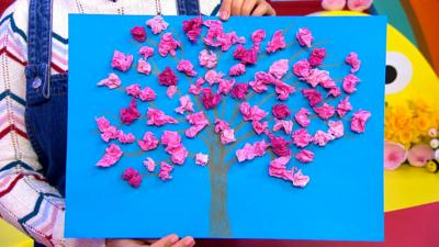 CBeebies House - Make a blossom picture