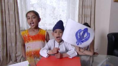 Let's Celebrate - Vaisakhi - Khanda Flag