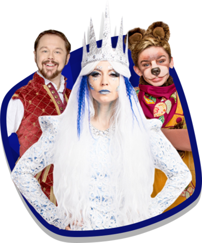 CBeebies The Snow Queen, Shakespeare and Baby Bear.