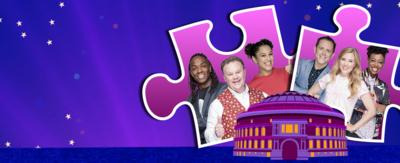 Presenters from CBeebies Prom Off to the Moon Jigsaw Game