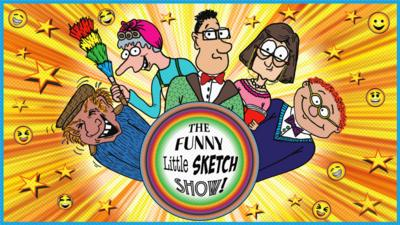 All the characters from The Funny Little Sketch Show smiling