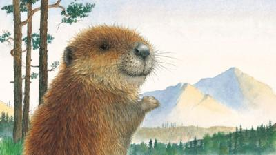 Little Beaver from Little Beaver and the Echo in a forest, looking over his shoulder.