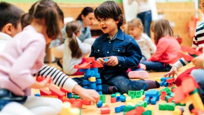 Children playing.