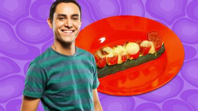 CBeebies House - Courgette Pizza Boats