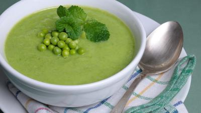 Down on the Farm - Pea and Mint Soup