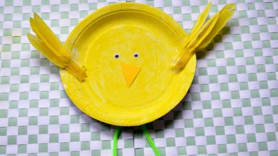 Down on the Farm - Paper Plate Chick