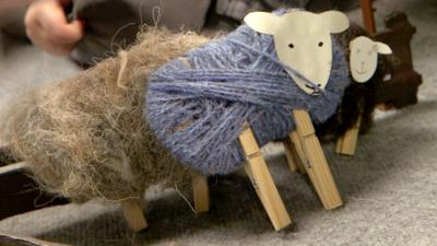 Down on the Farm - Woolly Peg Sheep