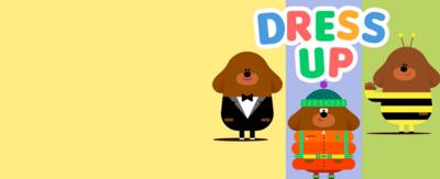 Hey Duggee in different outfits.