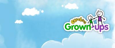 Grown-ups logo in the sky.