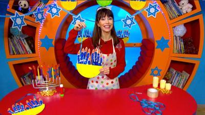 CBeebies House - Hanukkah Menorah Decoration