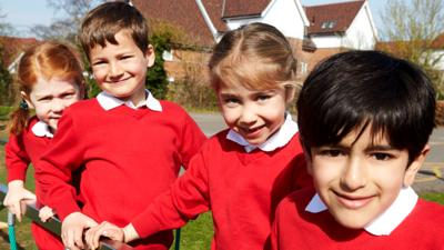 Primary school children. Article for parents about making friends at school.