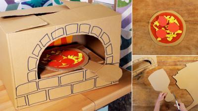 Junk Rescue - Cardboard box creations