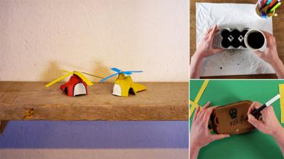 Junk Rescue - Excellent creations with egg boxes