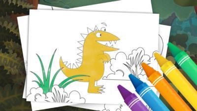 Kiri and Lou - Kiri and Lou Colouring Sheets