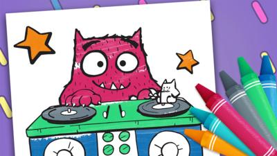 Love Monster - Love Monster Colouring Sheets