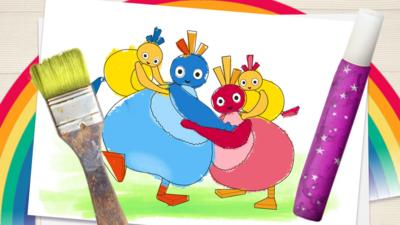 Twirlywoos - Make a Picture with the Twirlywoos