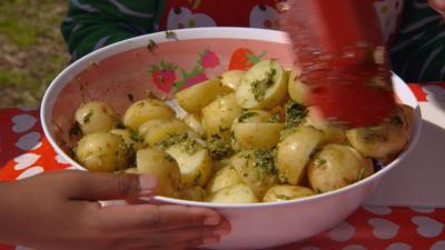 Mr Bloom: Here and There - Pesto Potatoes
