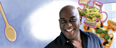 Ainsley Harriott and some jigsaw pieces.