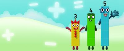 The Numberblocks are learning about easy patterns.