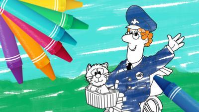 Postman Pat - Postman Pat Colouring Sheets
